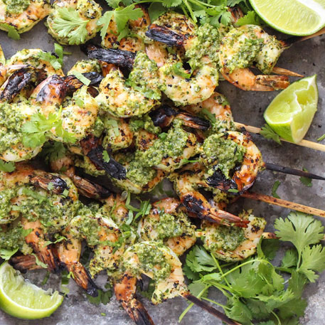CHIMICHURRI SHRIMP SKEWERS
